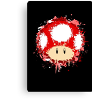 Splash Paint Super Mario Mushroom Canvas Print