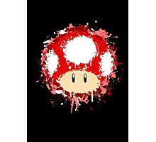 Splash Paint Super Mario Mushroom Photographic Print