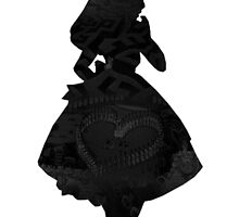 Alice in Wonderland , Black Picture Silhouette by BethannieeJ