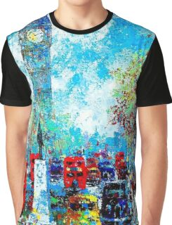 """""""LONDON ABSTRACT"""" Travel and Tourism Print Graphic T-Shirt"""