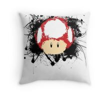Abstract Super Mario Mushroom Throw Pillow