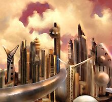 Galactic Metropolis  by motifdesignz