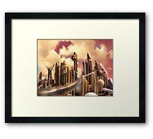 Galactic Metropolis  Framed Print