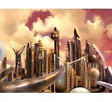 Galactic Metropolis  Photographic Print