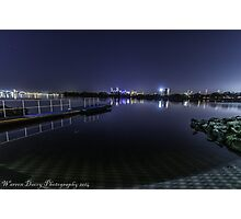 looking toward the city of perth lights  Photographic Print