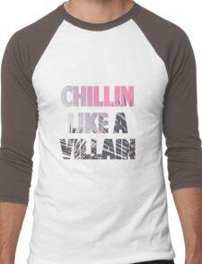 Chillin like a Villain Men's Baseball ¾ T-Shirt