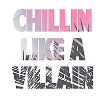 Chillin like a Villain Photographic Print