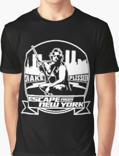 Snake Plissken (Escape from New York) Badge Graphic T-Shirt