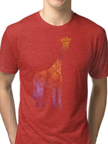 Rainbow Tribal Giraffe Tri-blend T-Shirt