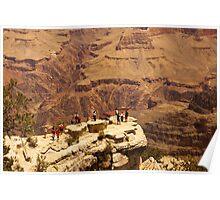 No Fear  -  Grand Canyon National Park - Arizona Poster