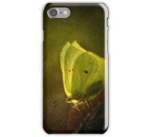 Yellow butterfly on the moss iPhone Case/Skin