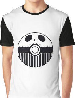 Jack Skellington Pokemon Ball Mash-up Graphic T-Shirt