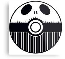Jack Skellington Pokemon Ball Mash-up Metal Print