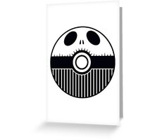 Jack Skellington Pokemon Ball Mash-up Greeting Card