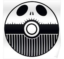 Jack Skellington Pokemon Ball Mash-up Poster