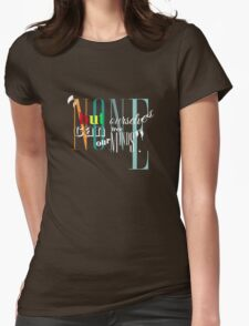 Bob Marley Lyrics - Cool Inspirational Text Design - None but ourself can free our minds Womens Fitted T-Shirt