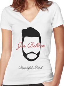 Jon Bellion Beautiful Mind Women's Fitted V-Neck T-Shirt