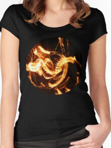 Fire Twirling Women's Fitted Scoop T-Shirt