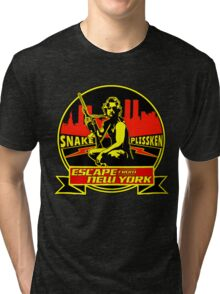 Snake Plissken (Escape from New York) Badge Colour Tri-blend T-Shirt