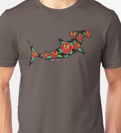 Hammerhead with Roses Unisex T-Shirt