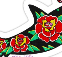 Hammerhead with Roses Sticker