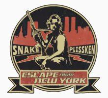 Snake Plissken (Escape from New York) Badge Vintage Kids Tee
