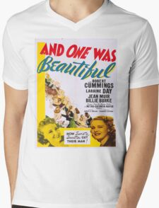 Vintage poster - And One Was Beautiful Mens V-Neck T-Shirt