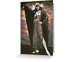 Glam Gal in Harem Costume Greeting Card