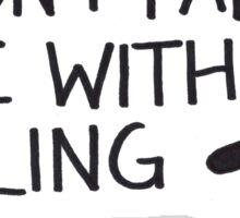 Falling Sticker