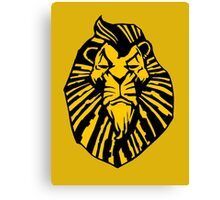 Broadway Poster Style Lion Scar - The Wannabe Lion King Canvas Print