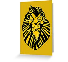 Broadway Poster Style Lion Scar - The Wannabe Lion King Greeting Card