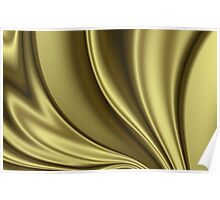 Abstract Fractal Colorways 02 Simple Gold Poster