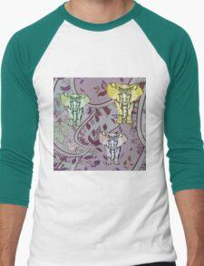 Elephant Garden Men's Baseball ¾ T-Shirt