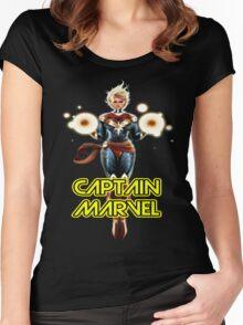 CAPTAIN MARVEL SUPERHERO Women's Fitted Scoop T-Shirt