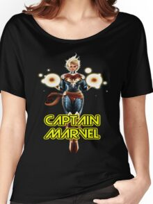 CAPTAIN MARVEL THE WOMAN SUPERHERO... Women's Relaxed Fit T-Shirt
