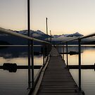 Jetty at sunset by Nigel Roulston