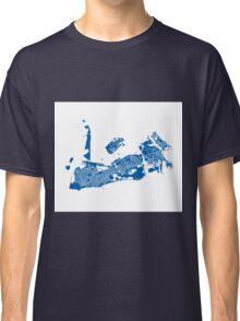 Key West Map - Deep Blue Classic T-Shirt