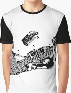 Key West Map - Black Graphic T-Shirt