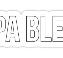 Papa Bless - version 2 - white Sticker