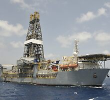 Drillship Discoverer Deep Seas by Bradford Martin