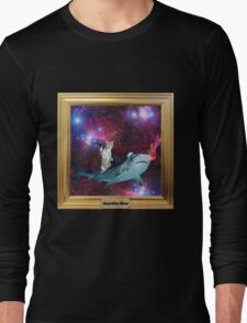Hipster Kitty IN SPACE Long Sleeve T-Shirt