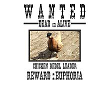 Wanted Chicken Leader Photographic Print
