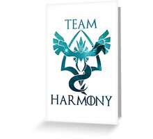 team harmony Greeting Card