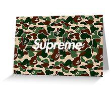 BAPE x Supreme: Camo Box Logo Greeting Card
