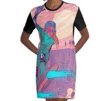CY B ER SURF Graphic T-Shirt Dress
