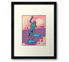 CY B ER SURF Framed Print