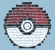 Pokeball Song typography Kids Tee