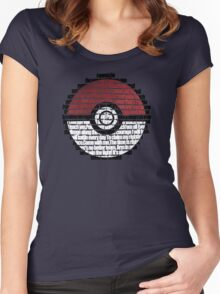 Pokeball Song typography Women's Fitted Scoop T-Shirt