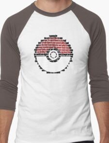 Pokeball Song typography Men's Baseball ¾ T-Shirt
