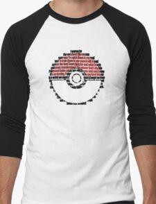Pokeball Song typography Men's Baseball ¾ T-Shirt